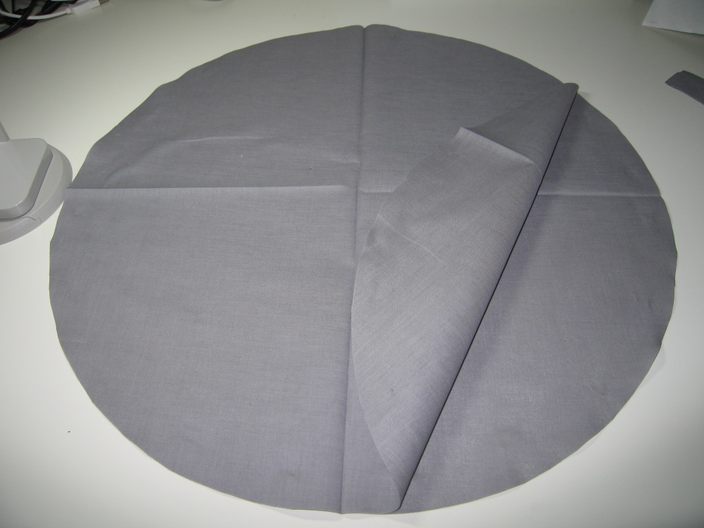 How to cut a really large circle from cloth without a pattern (5/5)