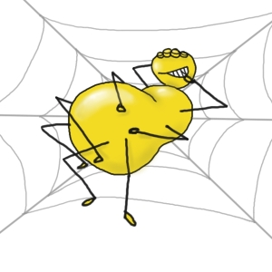 Fat yellow spider